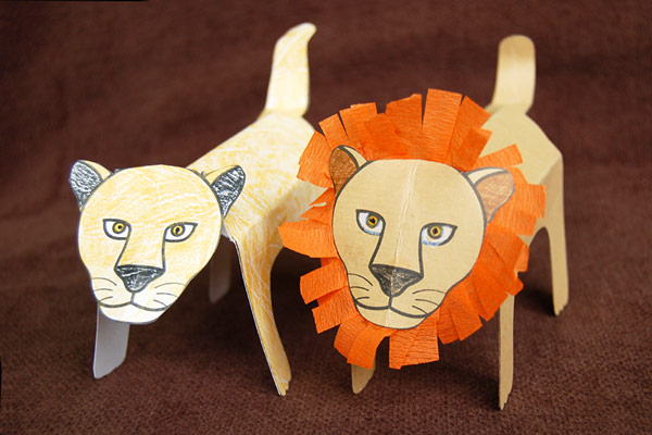MORE IDEAS - Create a pride of lions.