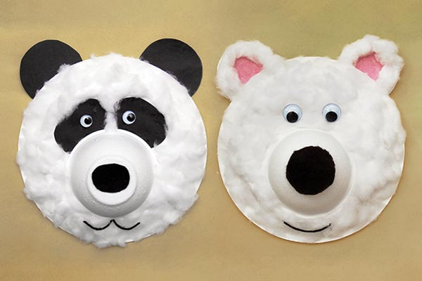 Fuzzy Paper Plate Bear craft