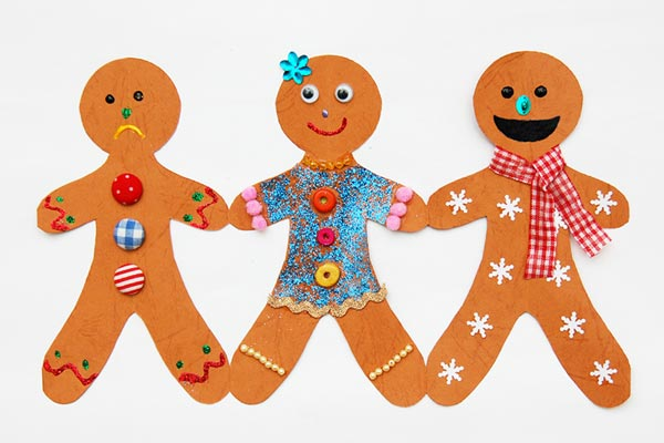 Paper Gingerbread Man Chain craft