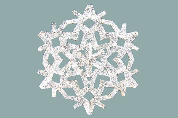 Glitter Snowflake craft