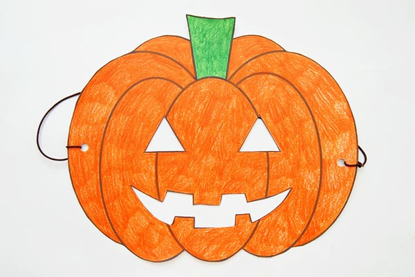 Jack-o'-Lantern Mask craft