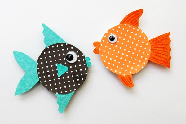 Jar Lid Fishes craft