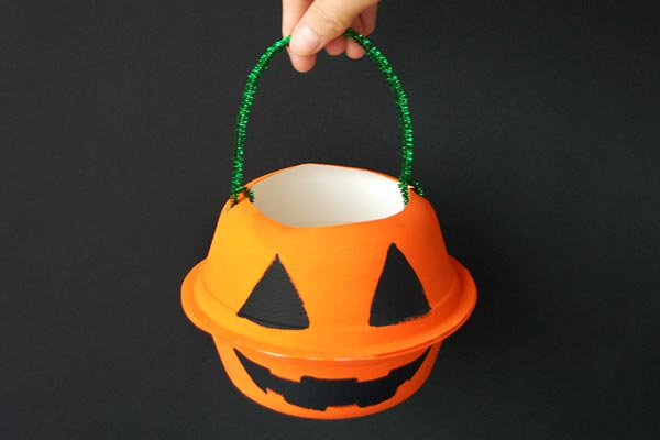 Mini Pumpkin Basket craft