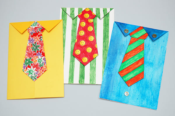 Necktie Greeting Card craft