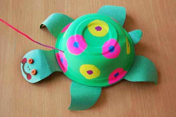 Paper Bowl Turtle craft
