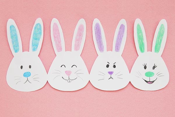 Paper Bunny Chain craft