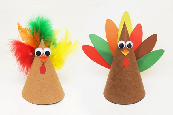 Paper Cone Turkey craft
