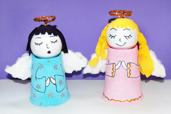 Paper Cup Angel craft