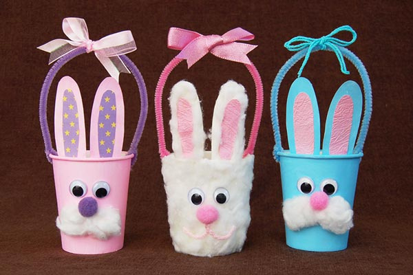 Paper Cup Bunny Basket craft