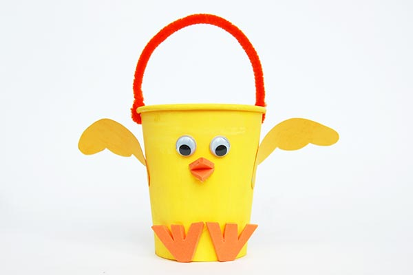 Paper Cup Chick Basket craft