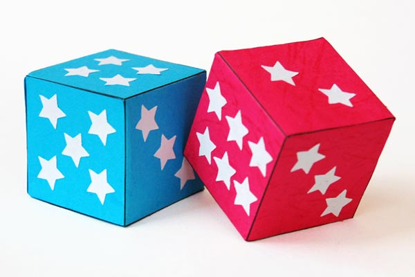 Paper Dice craft