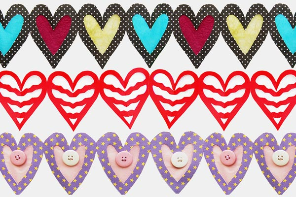 Paper Heart Chain craft