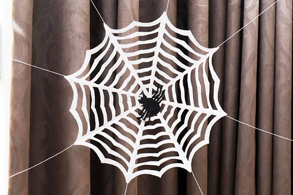 Paper Spider Web craft
