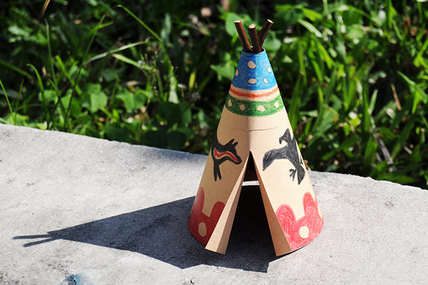 Paper Teepee craft