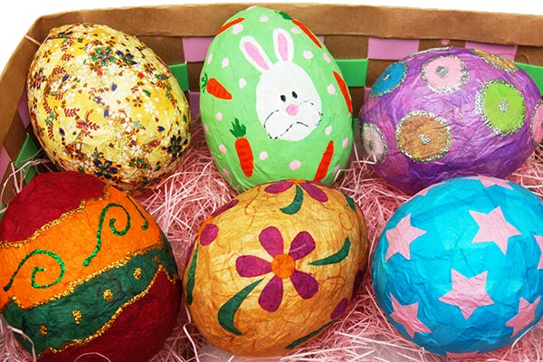 Papier Mache Easter Eggs craft