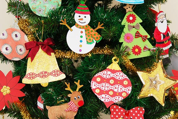 Printable Christmas Tree Ornaments craft
