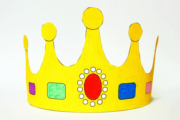Print and Color Crown craft