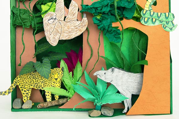 Rainforest Diorama craft