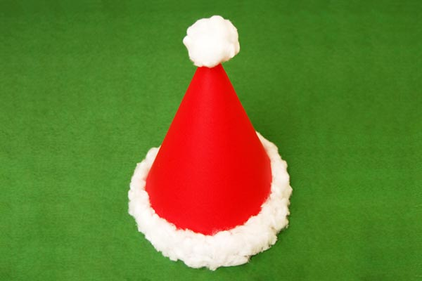 Santa Cone Hat craft