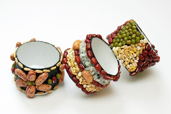 Seed Mosaic Napkin Rings craft
