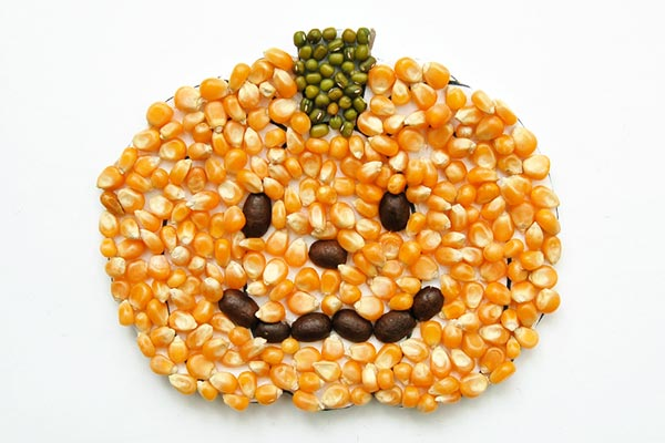 Seed Mosaic Pumpkin craft