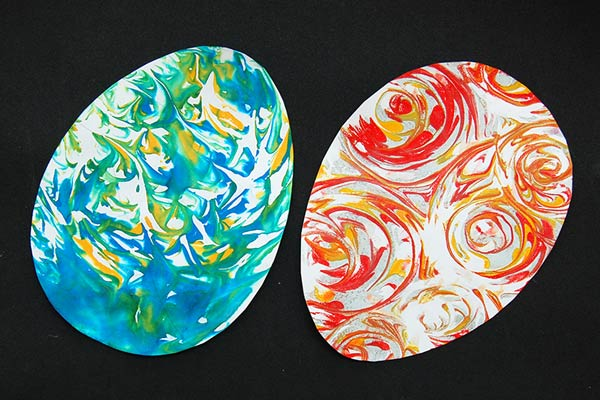 Shaving Foam Marbling craft