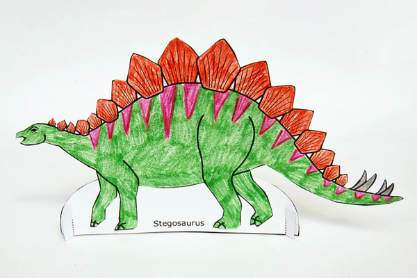 Standing Paper Dinosaurs craft