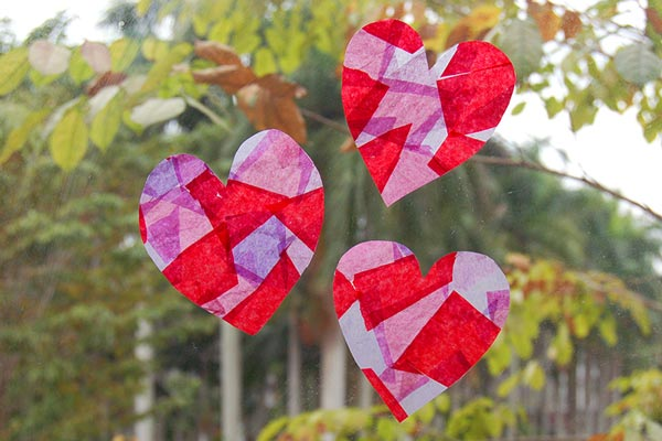 Tissue Paper Suncatchers craft