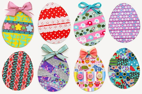 >Washi Tape Easter Eggs craft