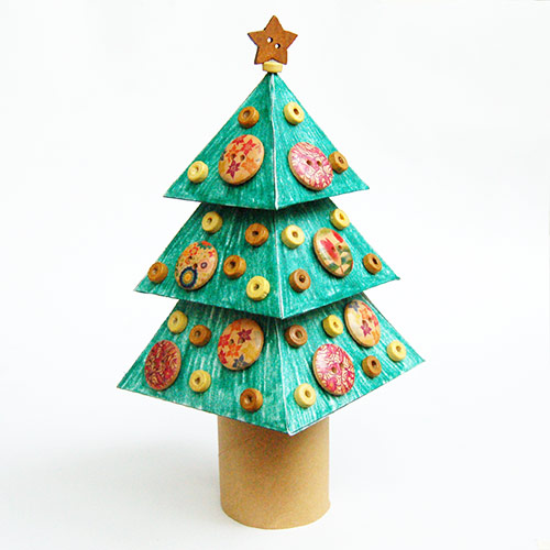 3d Christmas Tree Pattern: 3D Paper Christmas Tree