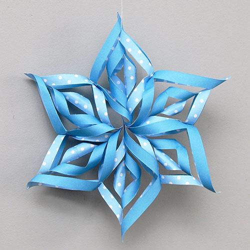 3d Paper Snowflake Kids Crafts Fun Craft Ideas