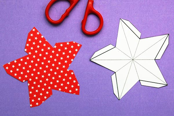 3dpaperstar-step1c  D Letter G Template on cut out, printable box,
