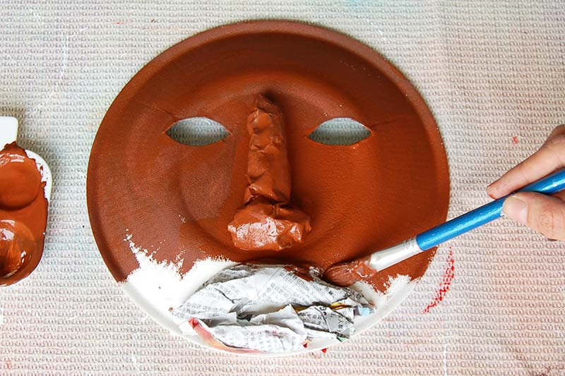 STEP 4 African Paper Plate Mask