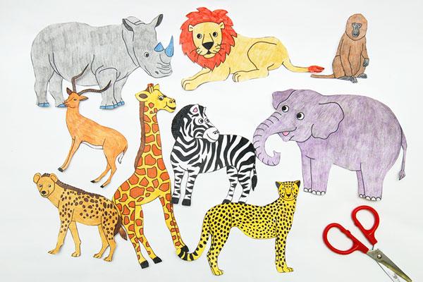 African Savanna Diorama Kids Crafts Fun Craft Ideas