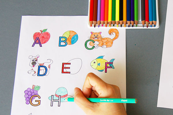 STEP 5 Alphabet Drawing Board