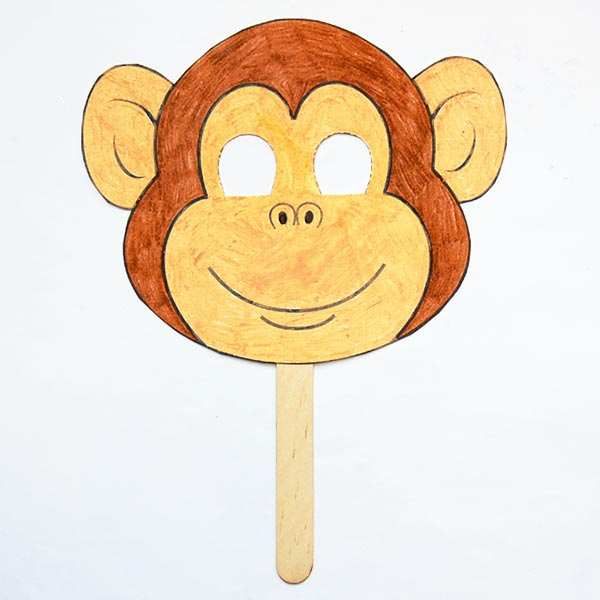 Monkey Paper Bag Puppet | Monkey crafts, Paper bag puppets, Paper ... | 600x600