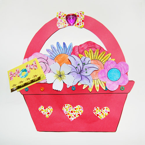 Basket of Flowers - Give as a gift.
