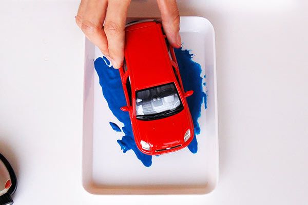 STEP 3 Car Track Painting