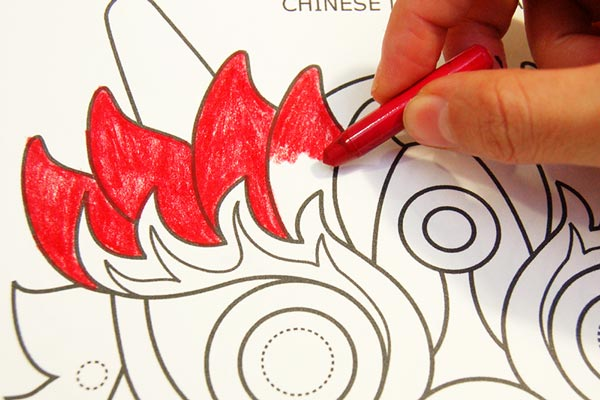 STEP 2 Chinese Dragon Mask