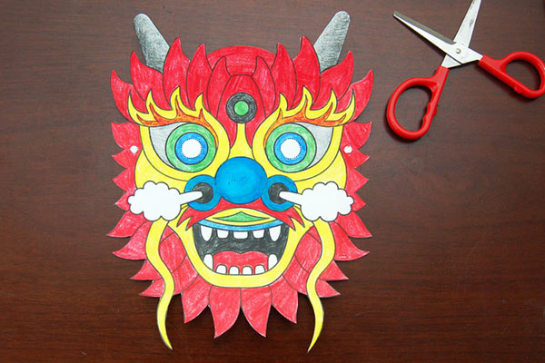 STEP 3 Chinese Dragon Mask