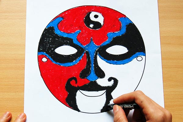 STEP 3 Chinese Opera Mask
