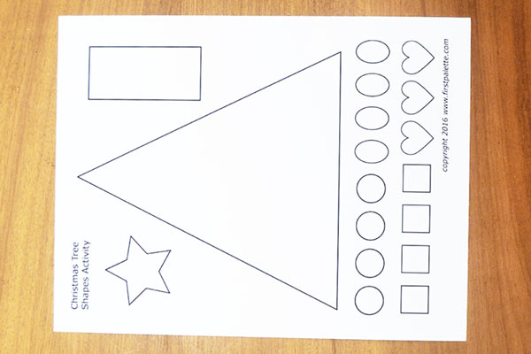 STEP 1 Christmas Tree Shapes Activity
