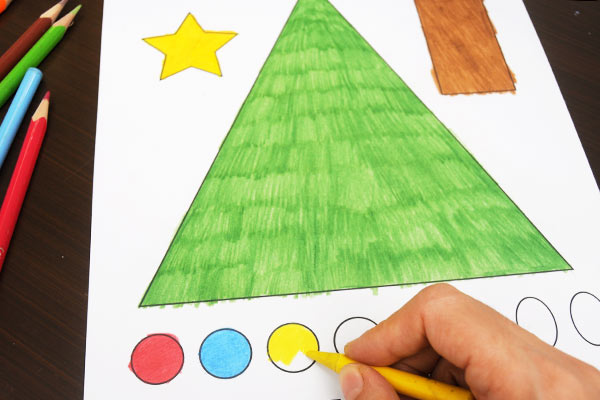 STEP 2 Christmas Tree Shapes Activity