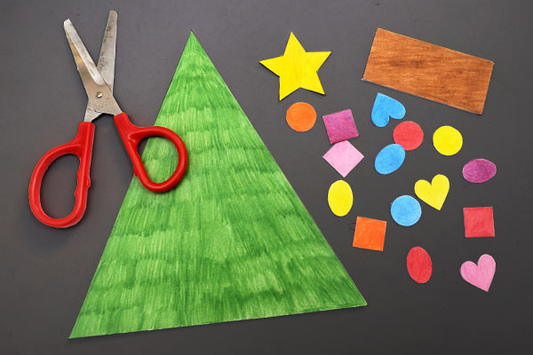 STEP 3 Christmas Tree Shapes Activity
