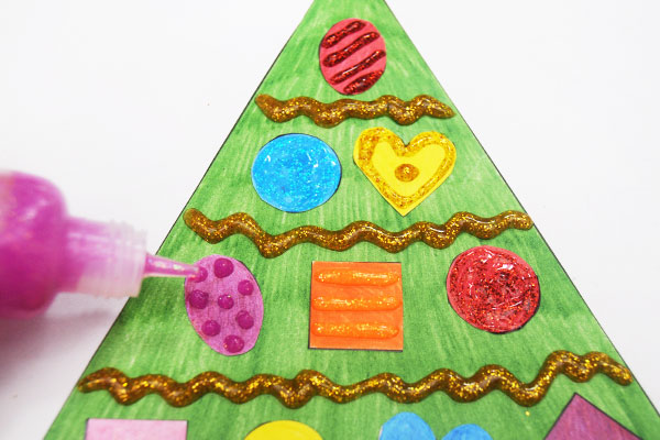 STEP 6 Christmas Tree Shapes Activity