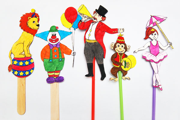 MORE IDEAS - Create circus paper dolls or puppets.