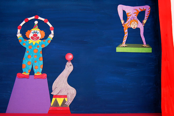 Step 15 Circus Diorama and Puppet Theater