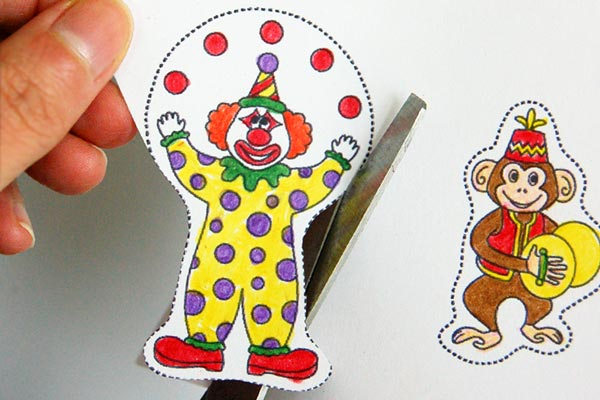 STEP 3 Circus Finger Puppets