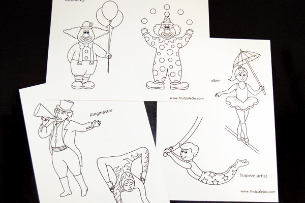 STEP 1 Circus Paper Dolls