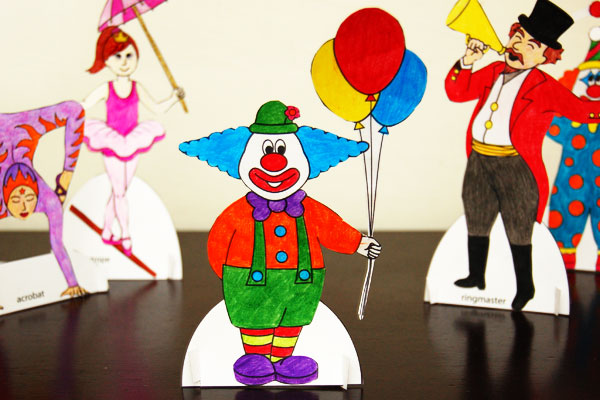 STEP 10 Circus Paper Dolls